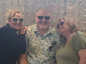 Relf EyeCare staff members are styling in shades. Come shop them at Relf Optical.