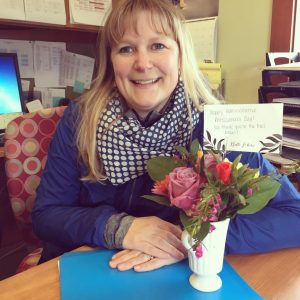 Flowers delivered to our Administrative Assistant.