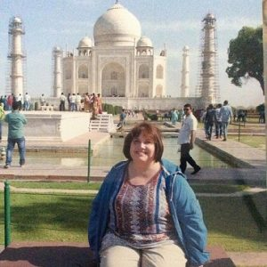 A picture of Penni Harju in India this last summer.