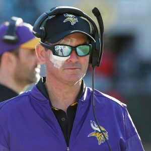 Eye News - May 2017 focuses on getting your eye exams yearly and features a photo of Minnesota Vikings head coach Mike Zimmerwhere Mandatory Credit: Reinhold Matay-USA TODAY Sports