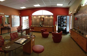 Relf Optical's lobby.