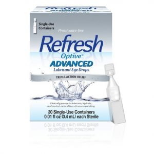 Refresh Optive Advanced Lubricant Eyedrops Single Use Containers