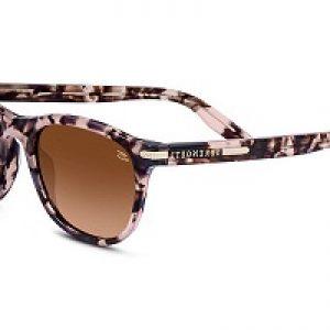 A pair of Serengeti Cheetah print sunglasses.