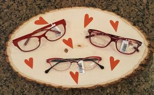 A selection of our red eyeglass lenses.